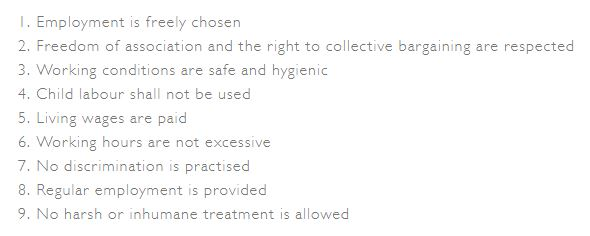 ethical trade code