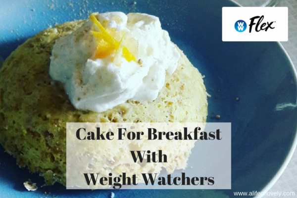 cake for breakfast with weight watchers