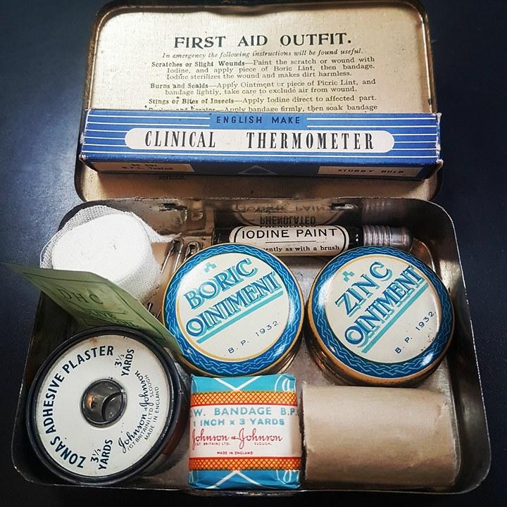 vintage antique first aid kit
