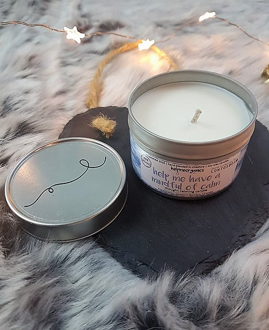 helpmeorganics soy wax candle