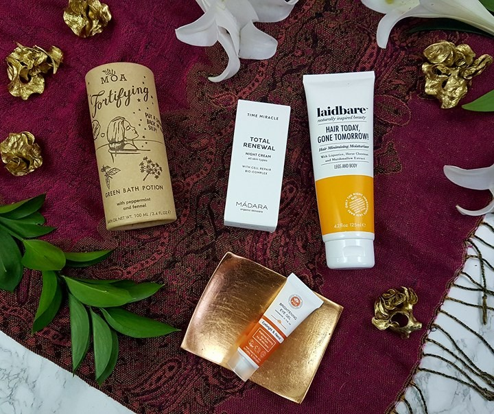LoveLula Box Januray 2018 - green beauty subscription box