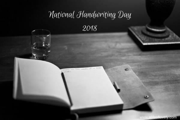 National Handwriting Day 2018