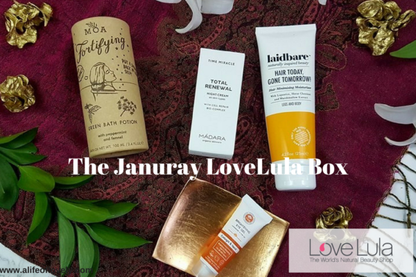 The January LoveLula box - green beauty subscription