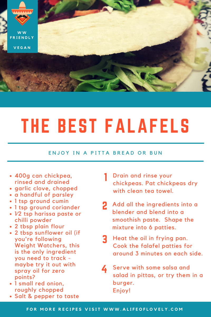 Weight Watchers Friendly falafel recipe - vegan