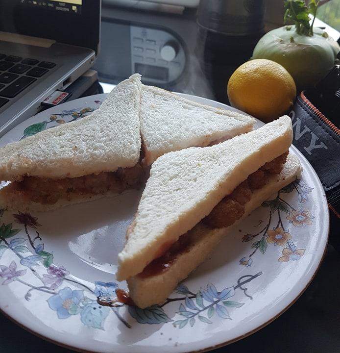 VBites Making Waves Gourmet Fish Style Steak sandwich