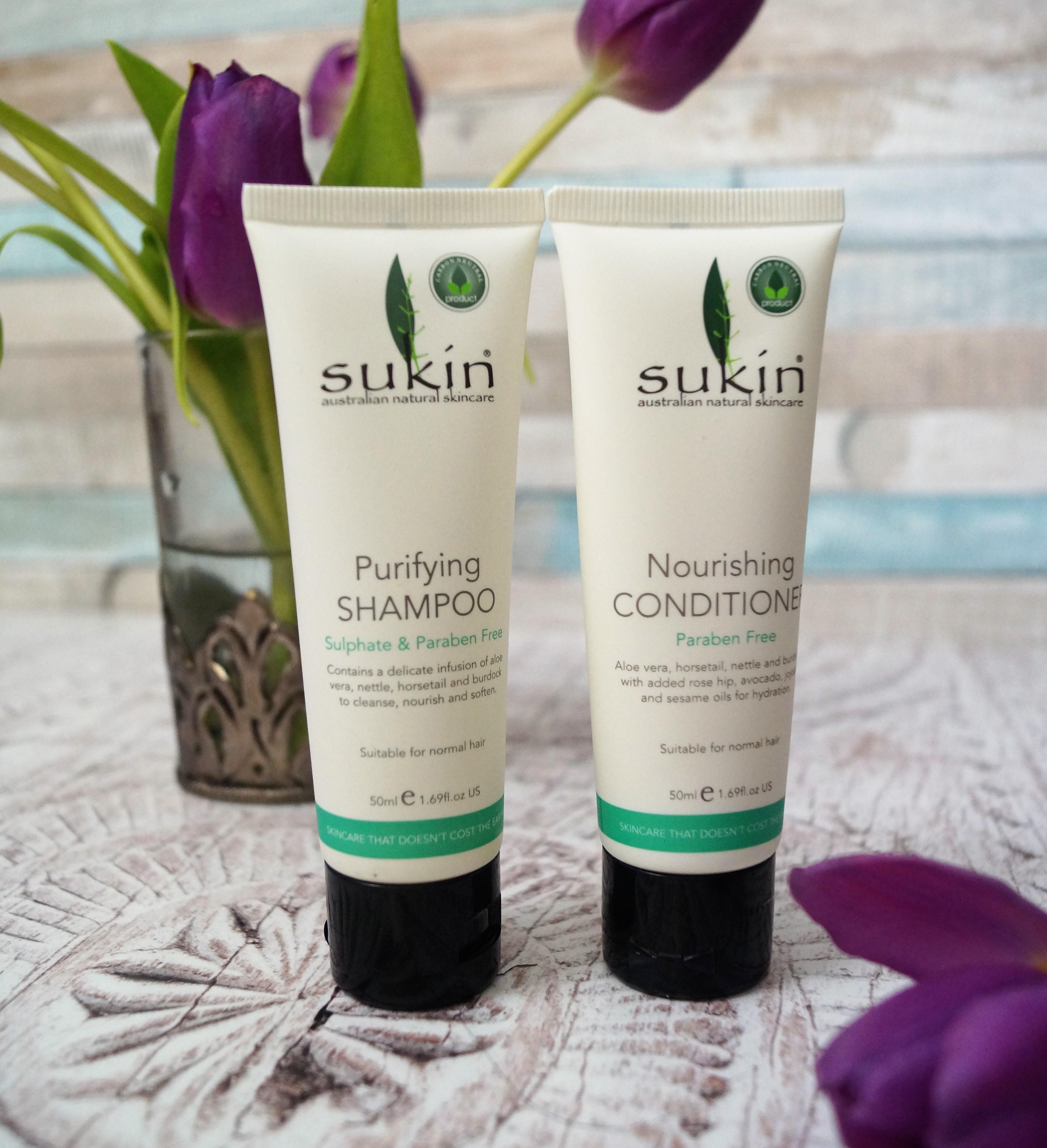 Sukin shampoo and conditioner