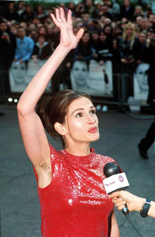 Julia Roberts hairy armpits
