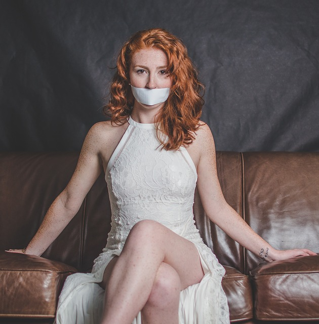 woman gagged