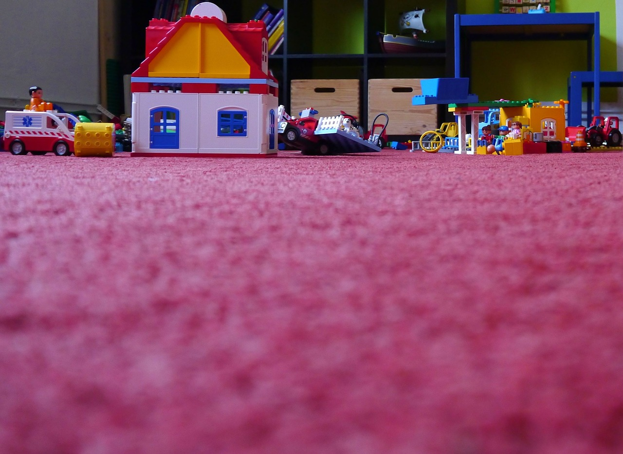 children's untidy floor