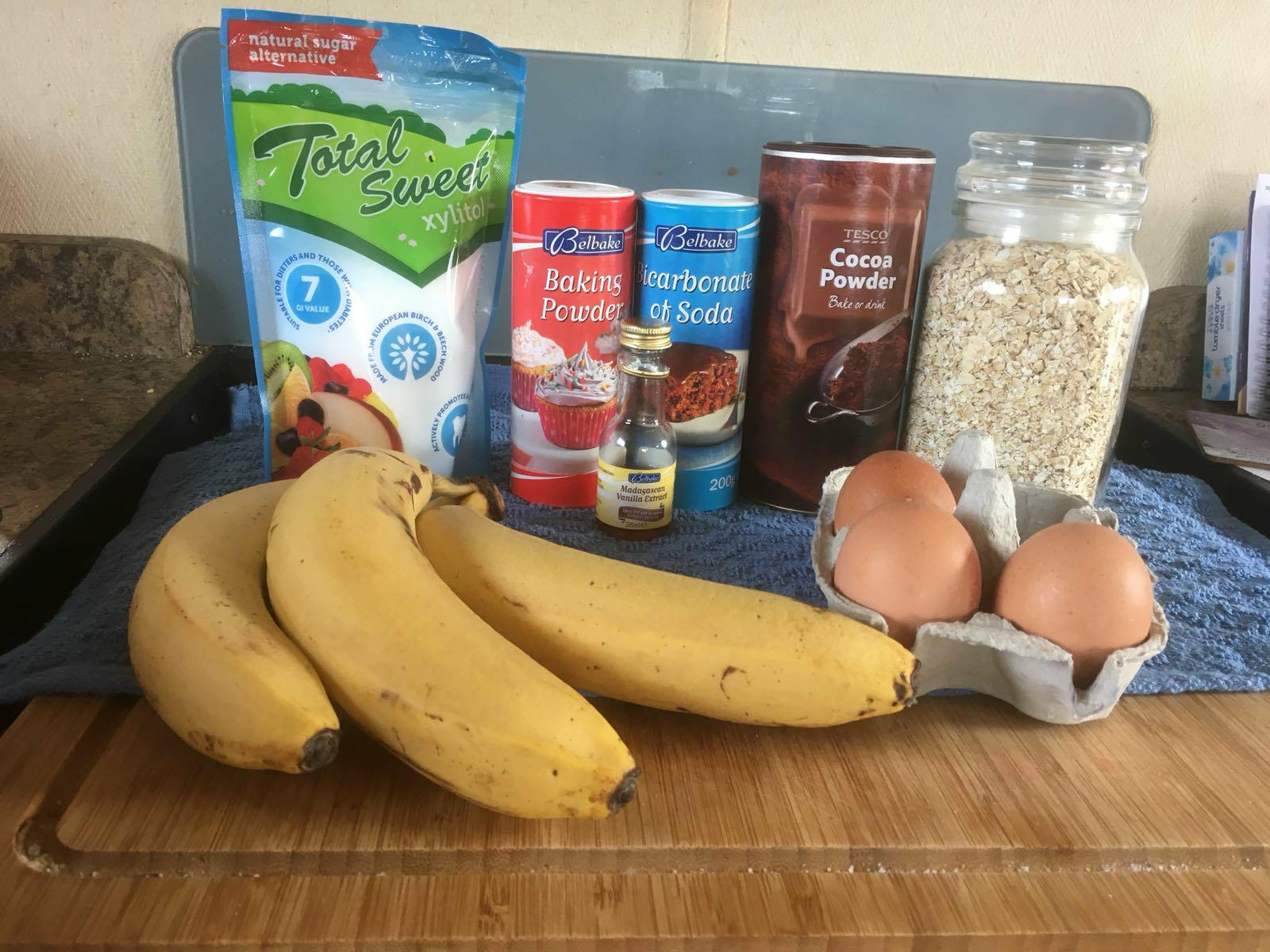 chocolate banana loaf ingredients
