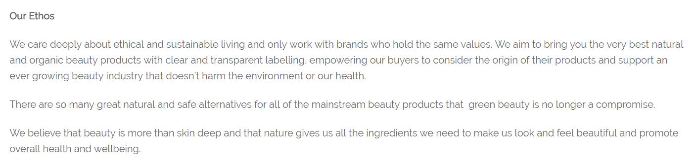 eco beauty crew ethos