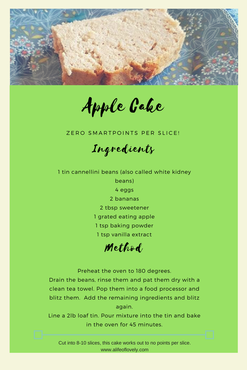 weight watchers flex apple cake recipe