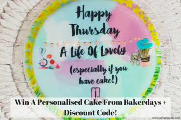 Win A Personalised Cake From Bakerdays + Discount Code!