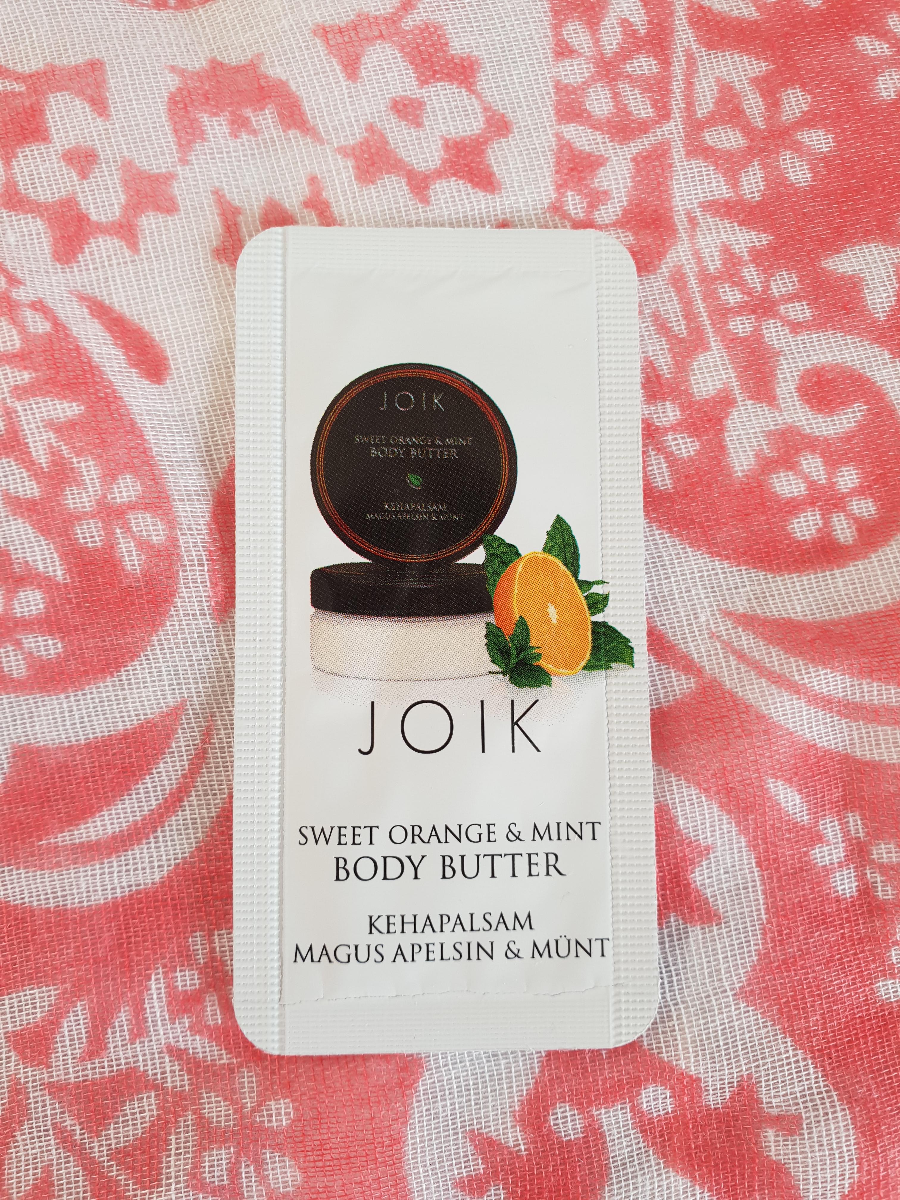 Joik Body Butter sample
