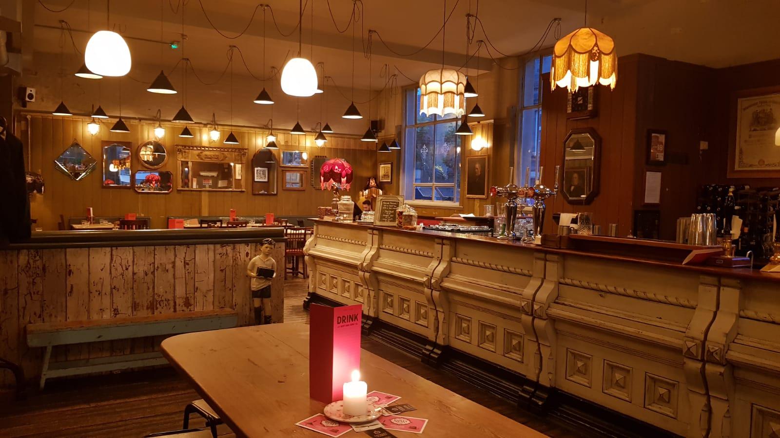 bar at the cosy cub Taunton