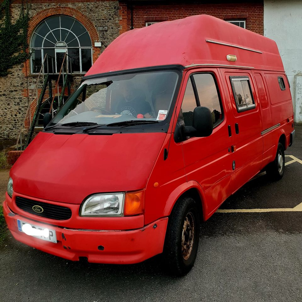 Big Red - transit van conversion