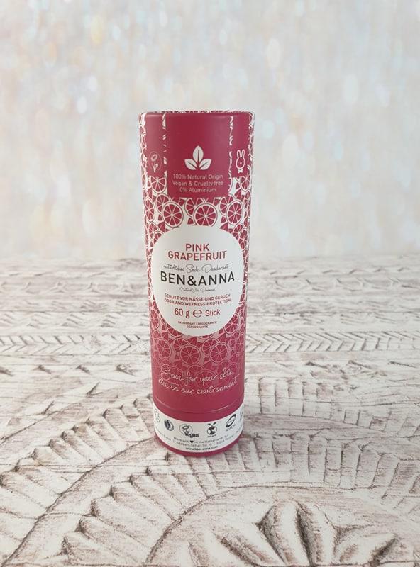 Ben & Anna Natural Soda Deodorant - Pink Grapefruit (Paper Tube)