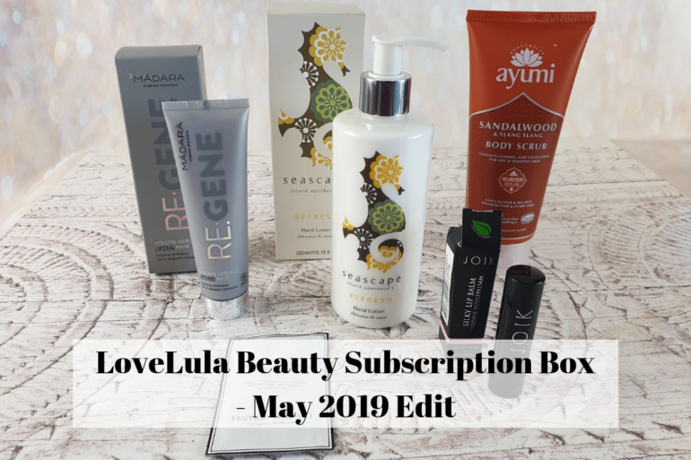 LoveLula Beauty Subscription Box - May 2019 Edit