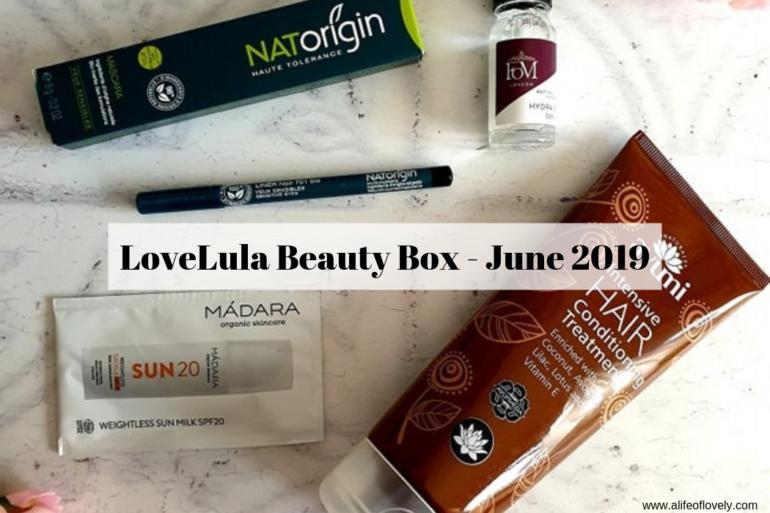 LoveLula Beauty Box - June 2019