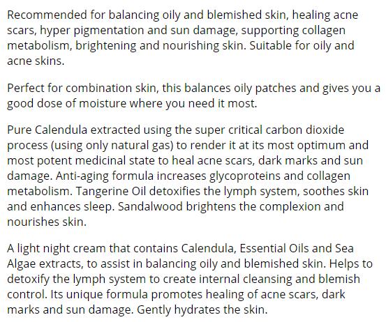 Kimberley Sayer night cream review
