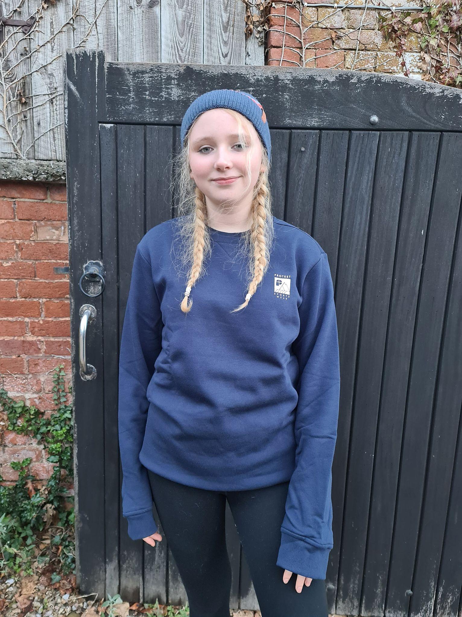 Lissy wearing Protest sportswear