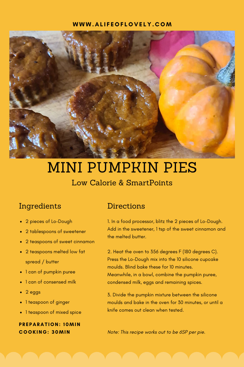 Weight Watchers Pumpkin Pie recipe