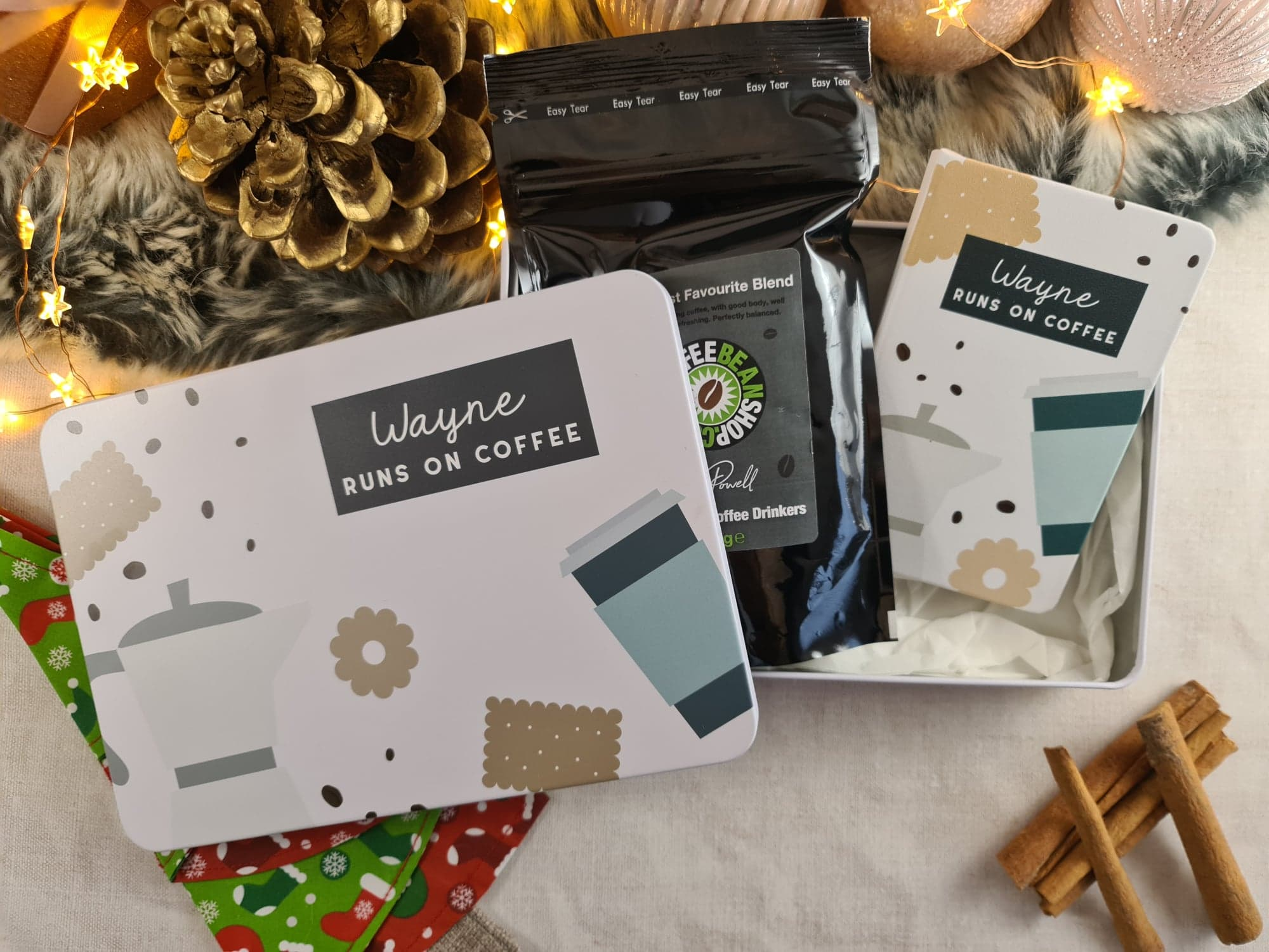 Personalised Runs On Coffee tin by Proper Goose