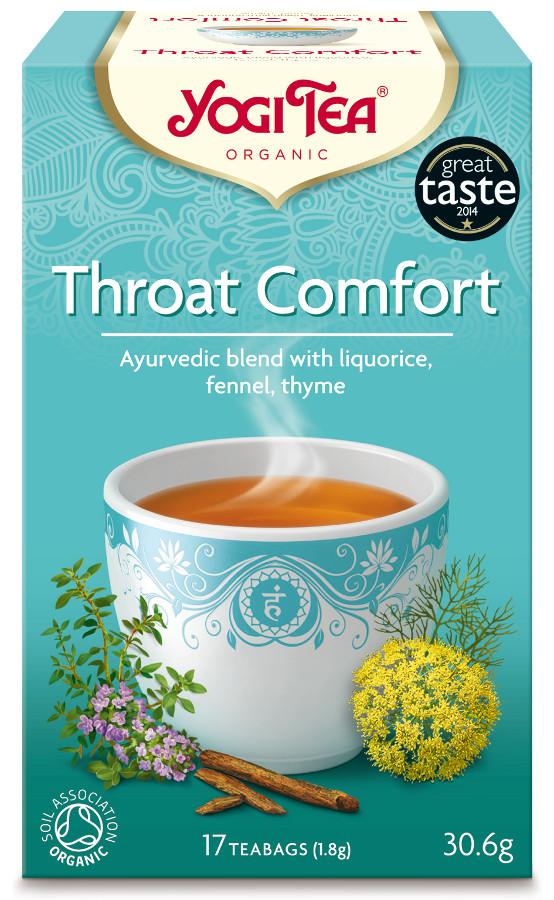 Throat Comfort organic tea by Yogi teas