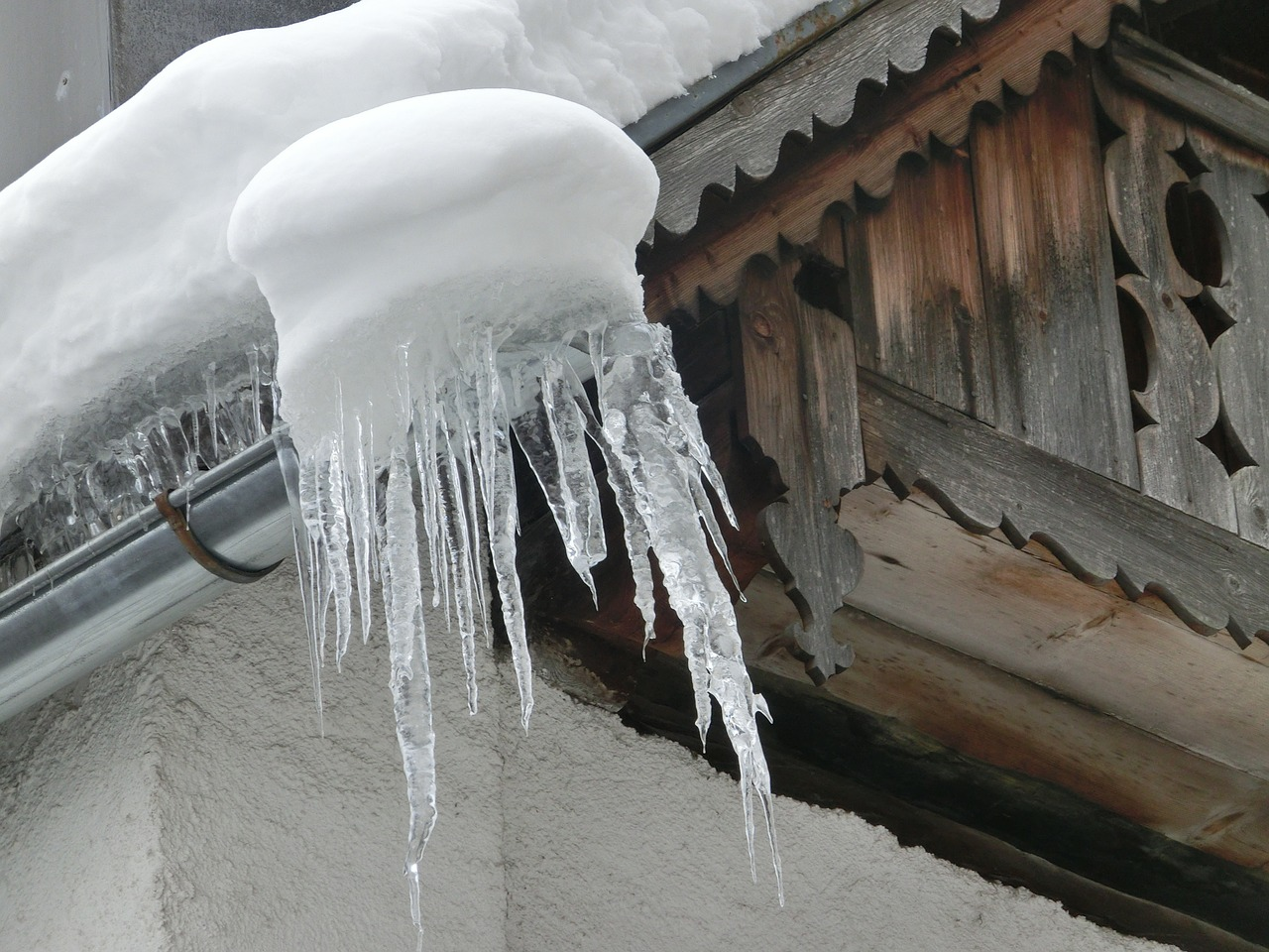 icicles and snow