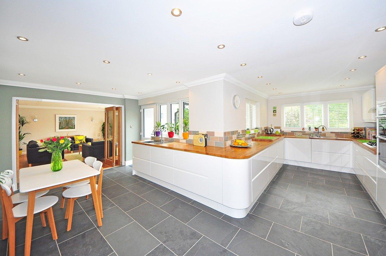 beautiful, large kitchen