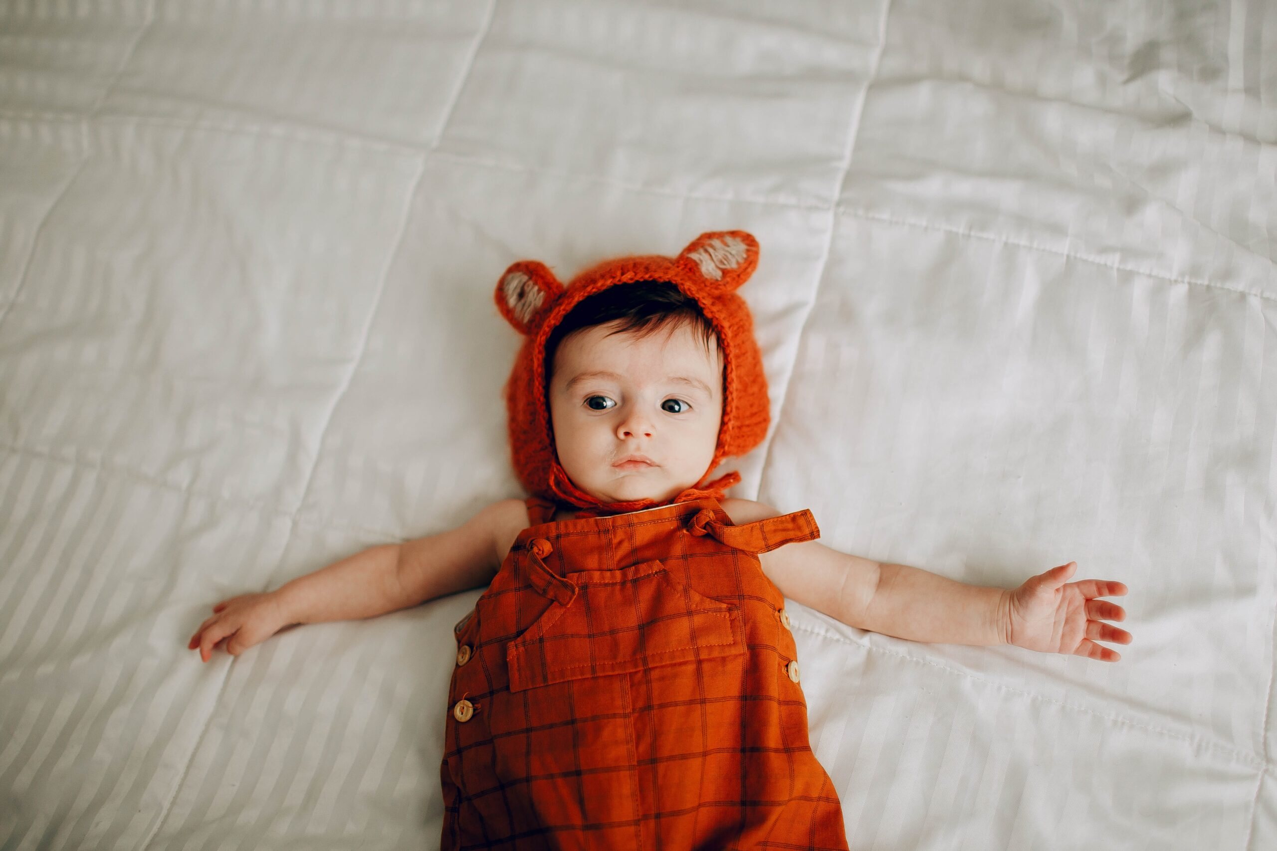 cute baby dressed as a teddy bear